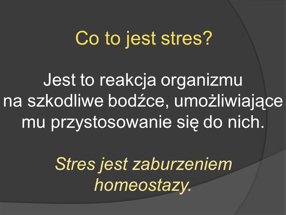 Co to jest stres Jest to reakcja organizmu