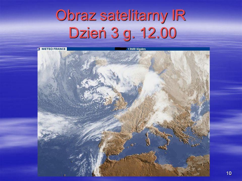Obraz satelitarny IR Dzień 3 g. 12.00