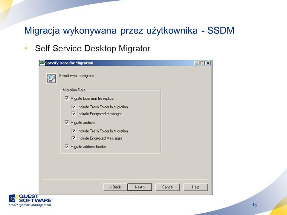 Migracja wykonywana przez użytkownika - SSDM