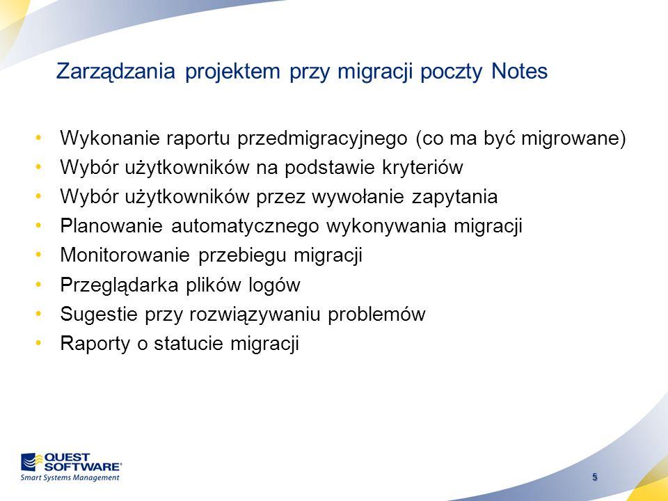 Zarządzania projektem przy migracji poczty Notes