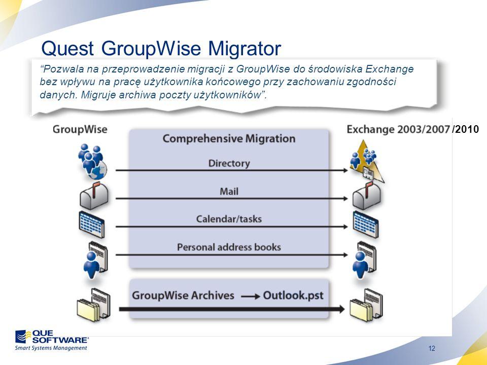 Quest GroupWise Migrator
