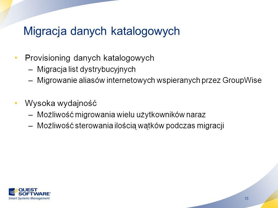 Migracja danych katalogowych