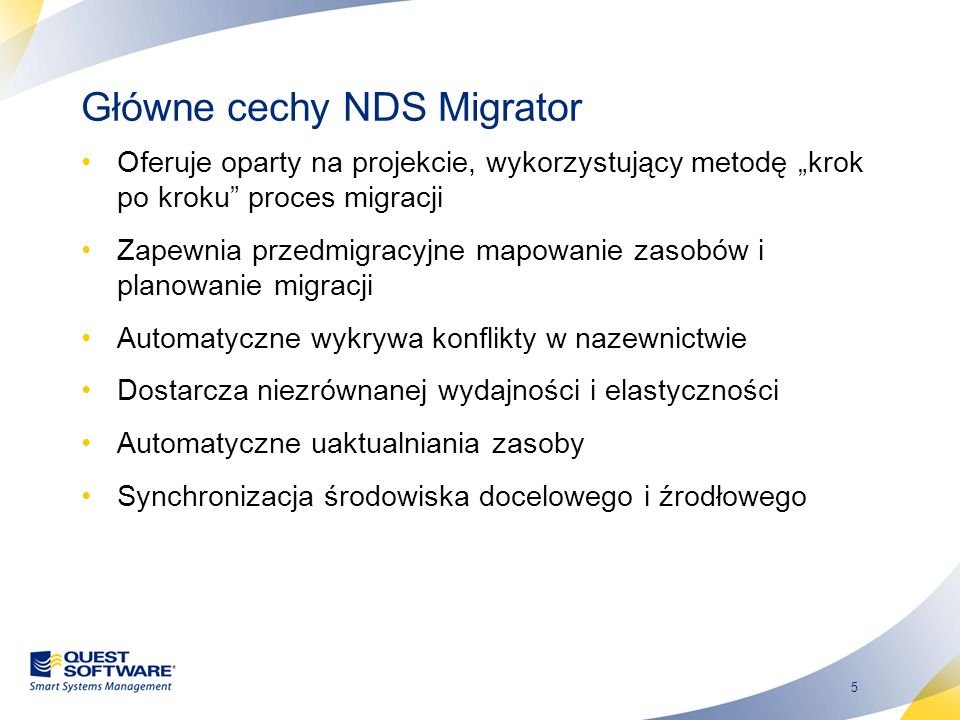 Główne cechy NDS Migrator
