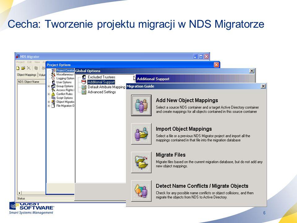 Cecha: Tworzenie projektu migracji w NDS Migratorze