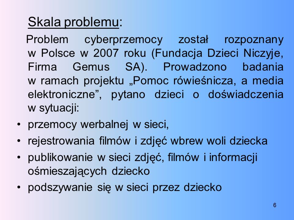 Skala problemu: