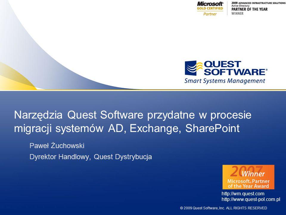 Narzędzia Quest Software przydatne w procesie migracji systemów AD, Exchange, SharePoint