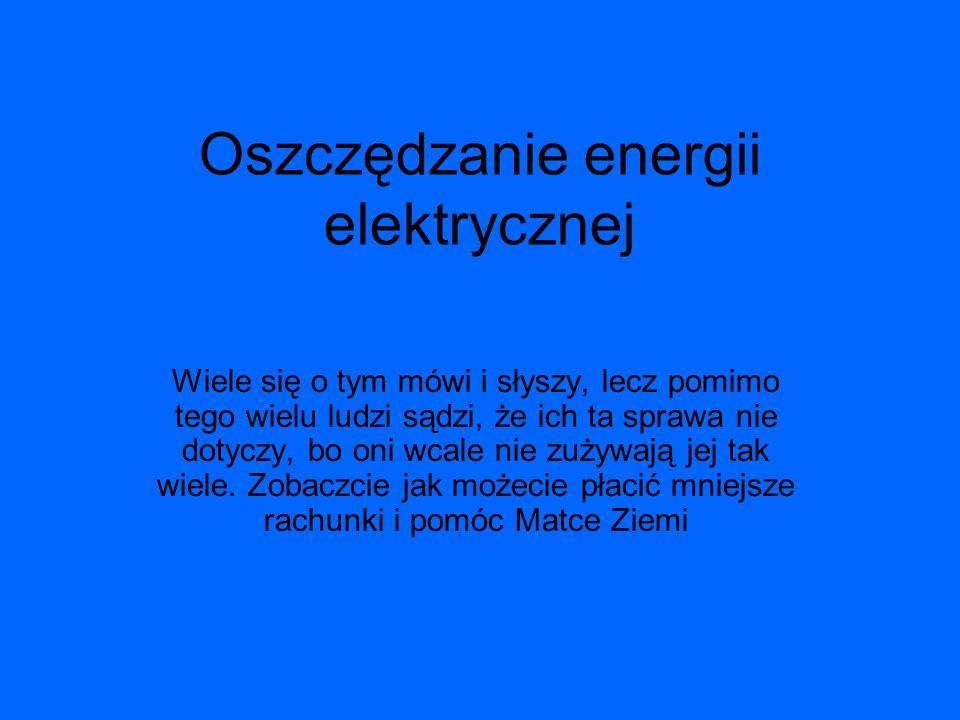 Oszczędzanie energii elektrycznej