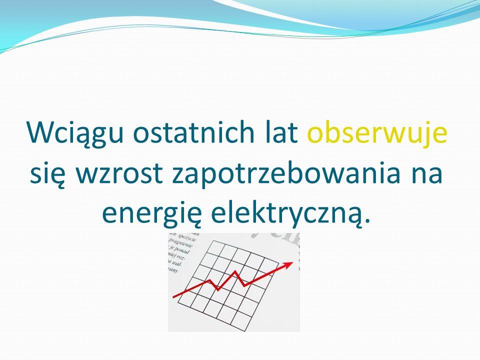 Wciągu ostatnich lat obserwuje się wzrost zapotrzebowania na energię elektryczną.
