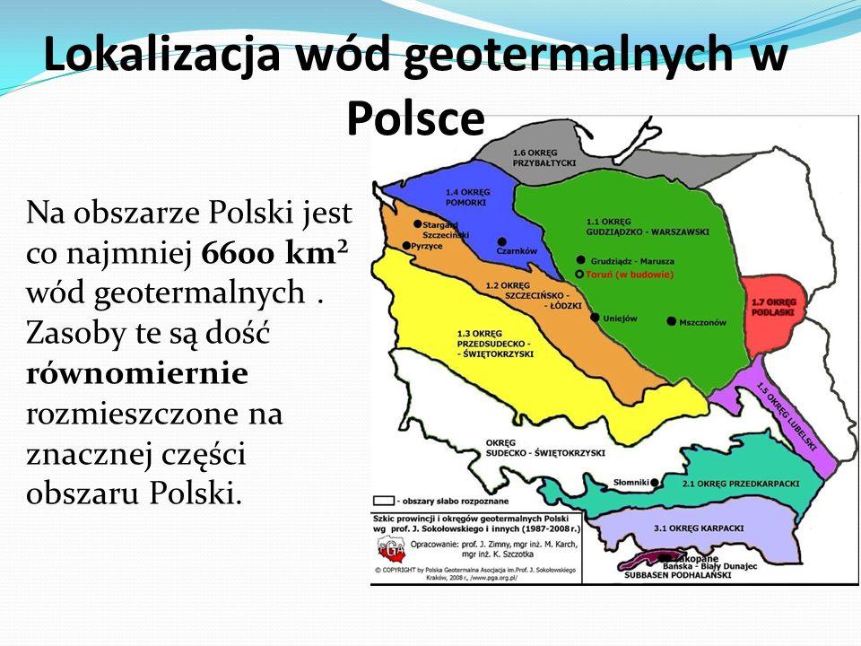 Lokalizacja wód geotermalnych w Polsce