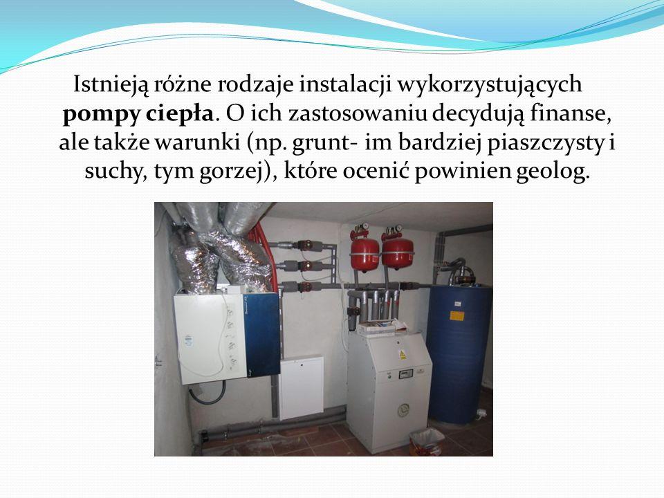 Istnieją różne rodzaje instalacji wykorzystujących pompy ciepła