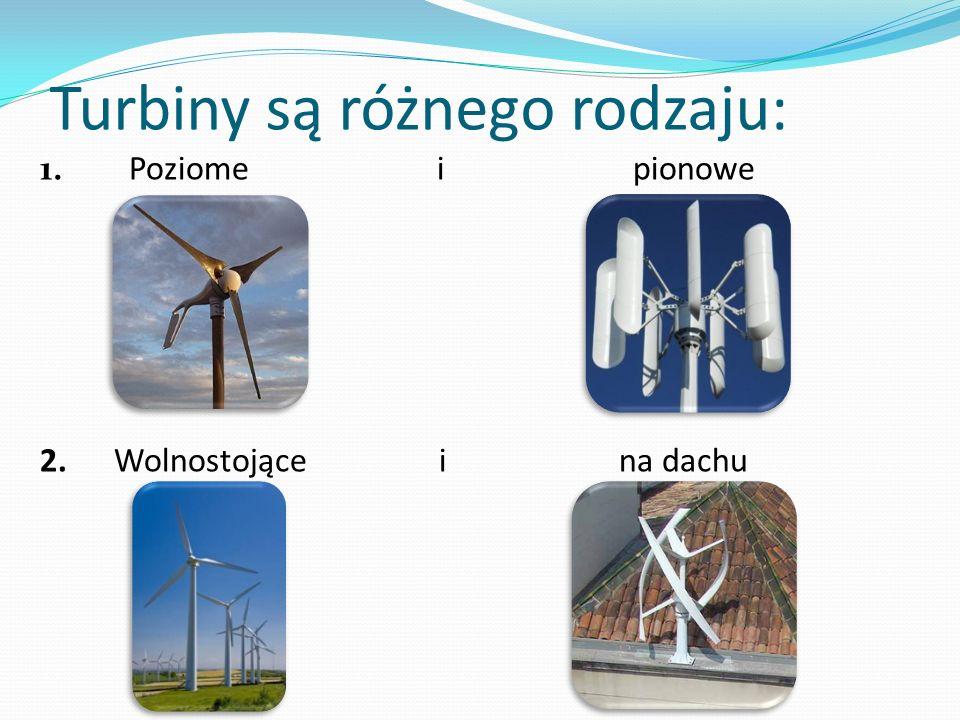 Turbiny są różnego rodzaju: