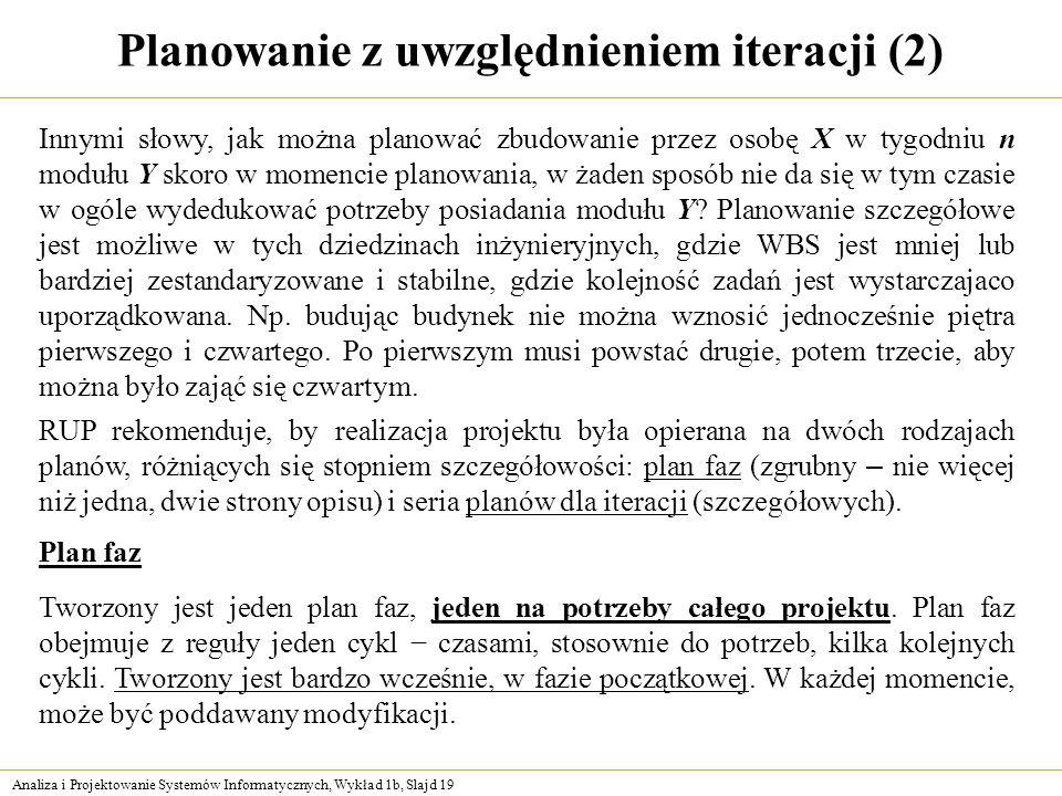 Planowanie z uwzględnieniem iteracji (2)