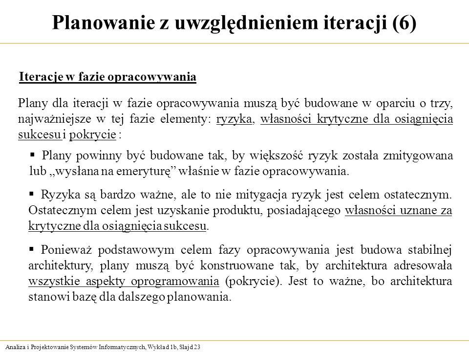 Planowanie z uwzględnieniem iteracji (6)