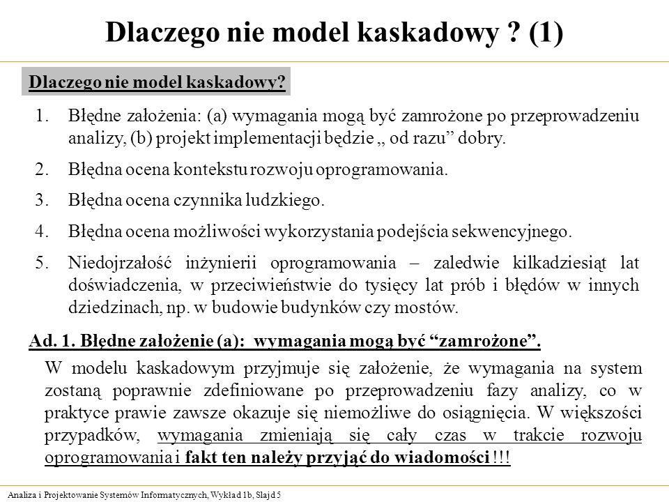 Dlaczego nie model kaskadowy (1)
