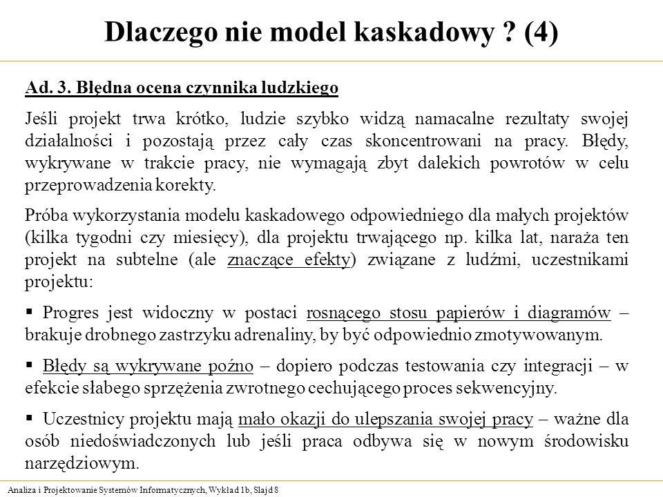 Dlaczego nie model kaskadowy (4)