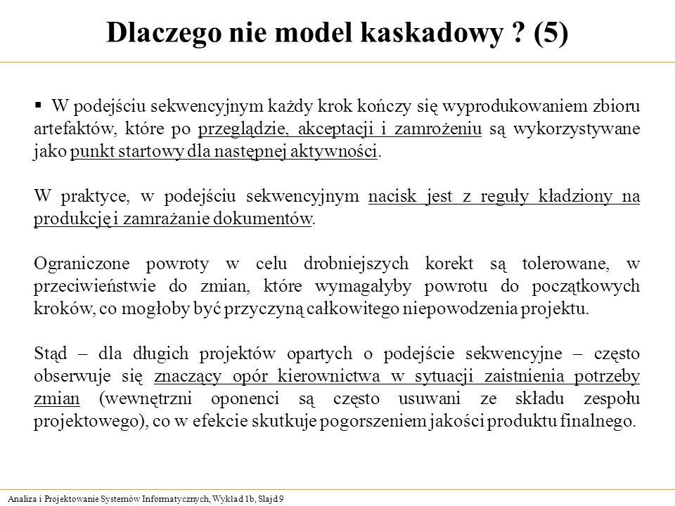 Dlaczego nie model kaskadowy (5)