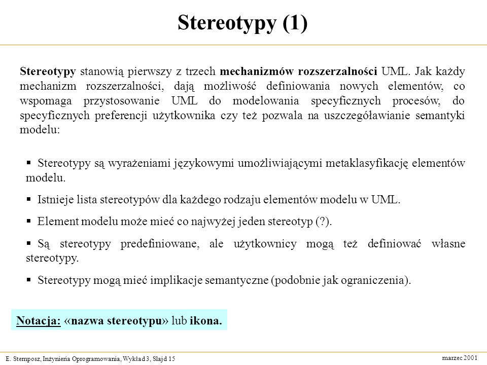 Stereotypy (1)