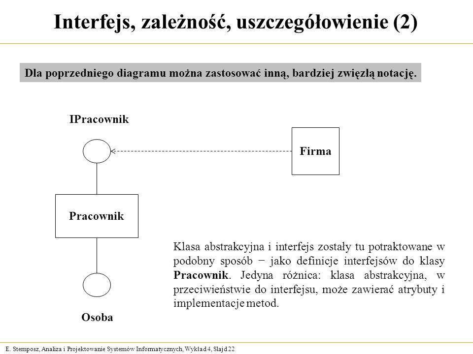 Interfejs, zależność, uszczegółowienie (2)
