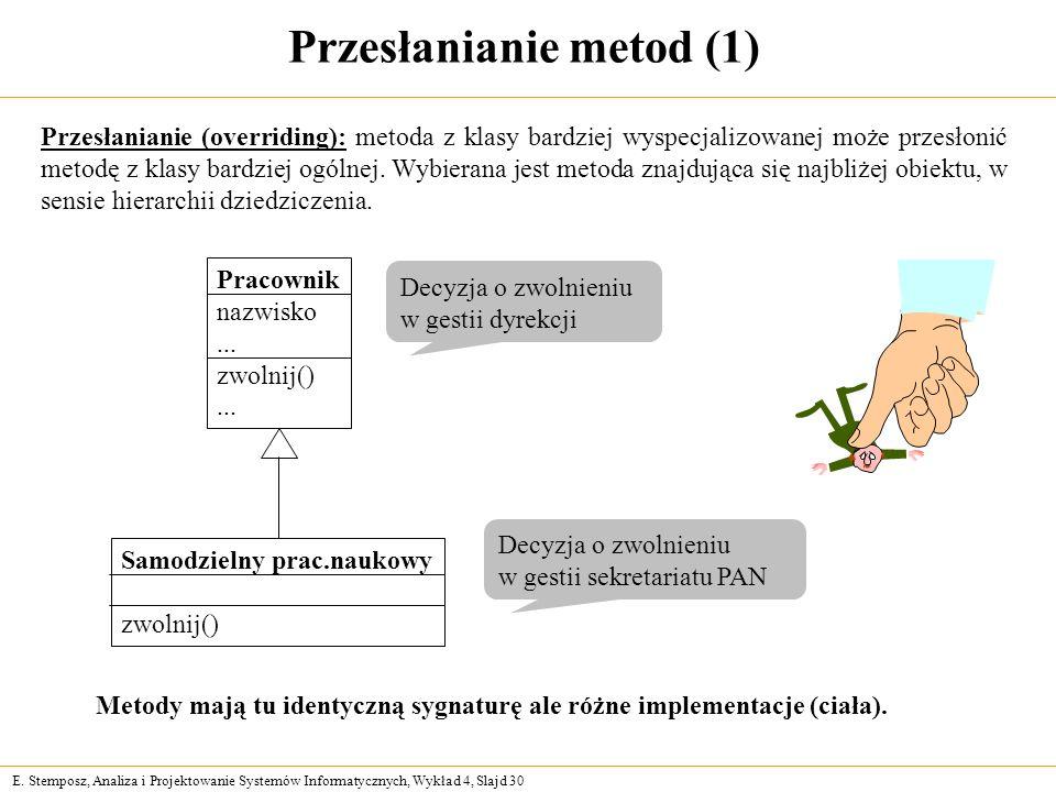 Przesłanianie metod (1)