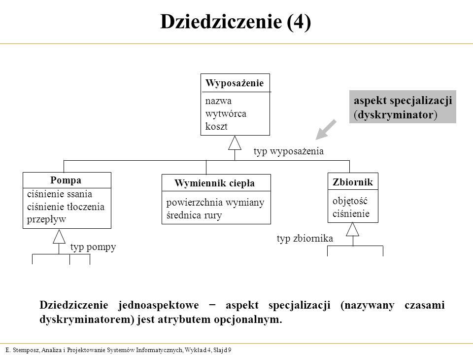 Dziedziczenie (4) aspekt specjalizacji (dyskryminator)