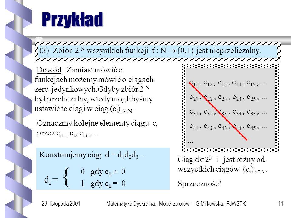 Matematyka Dyskretna, Moce zbiorów G.Mirkowska, PJWSTK