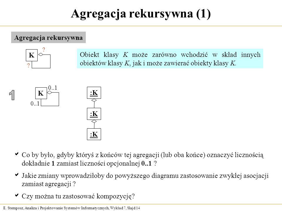 Agregacja rekursywna (1)