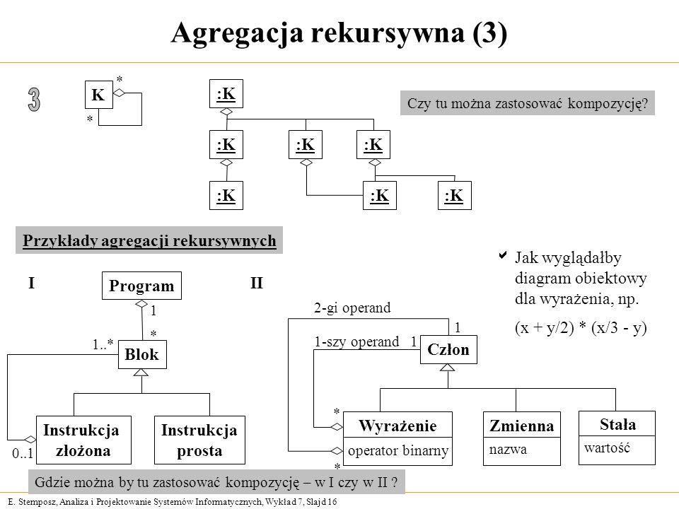 Agregacja rekursywna (3)