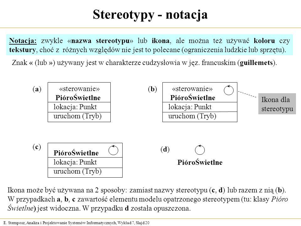 Stereotypy - notacja