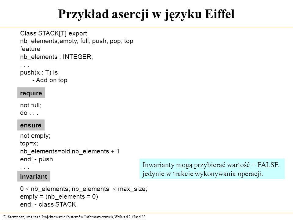 Przykład asercji w języku Eiffel
