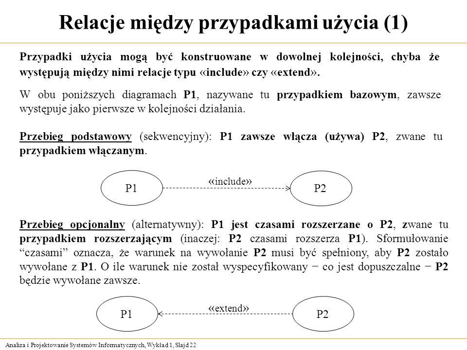 Relacje między przypadkami użycia (1)