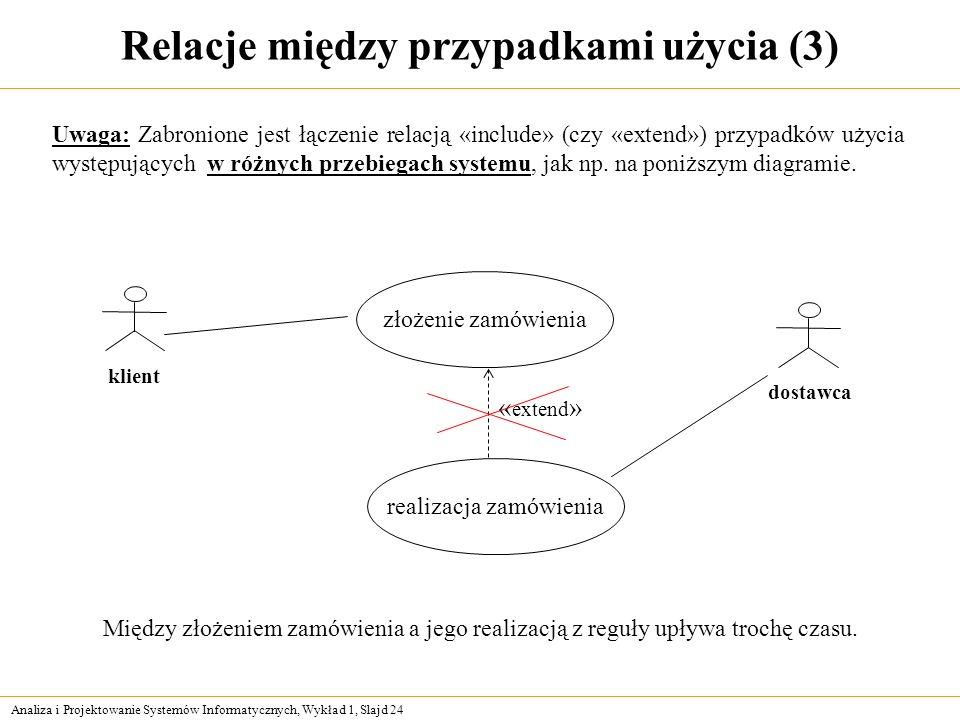 Relacje między przypadkami użycia (3)