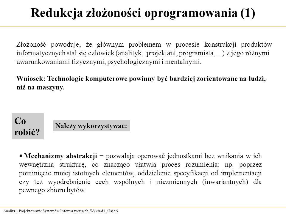 Redukcja złożoności oprogramowania (1)
