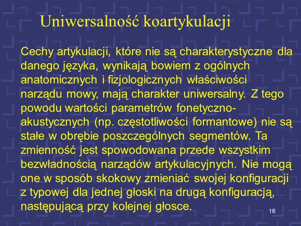 Uniwersalność koartykulacji