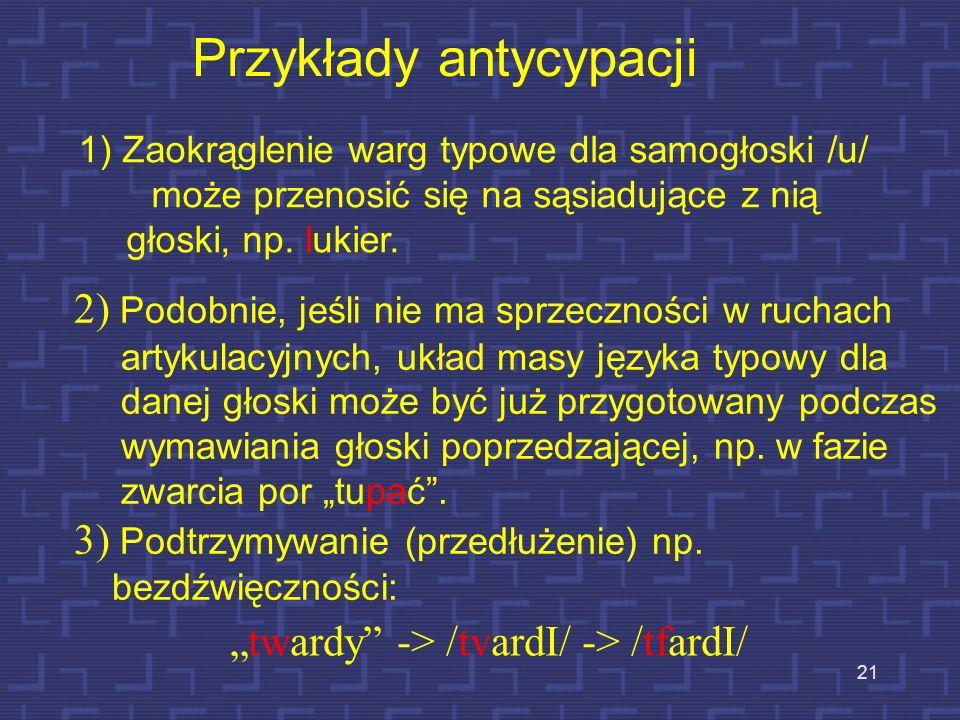 Przykłady antycypacji
