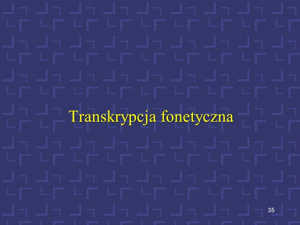 Transkrypcja fonetyczna