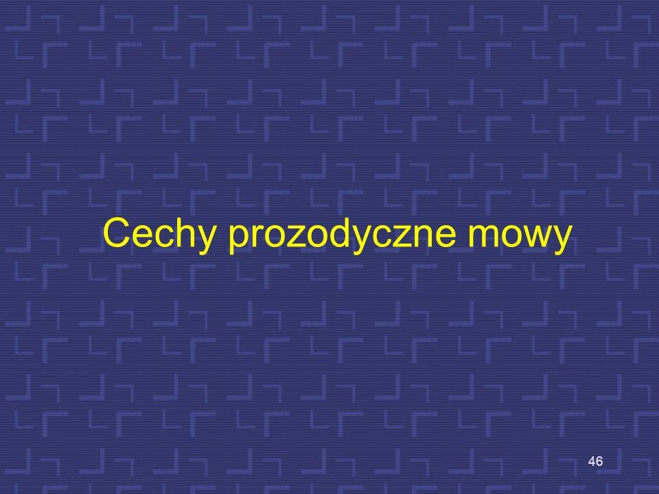 Cechy prozodyczne mowy