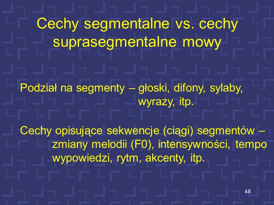Cechy segmentalne vs. cechy suprasegmentalne mowy