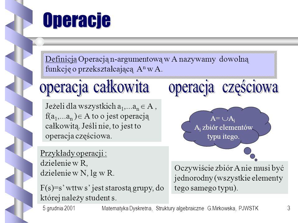 Operacje operacja całkowita operacja częściowa