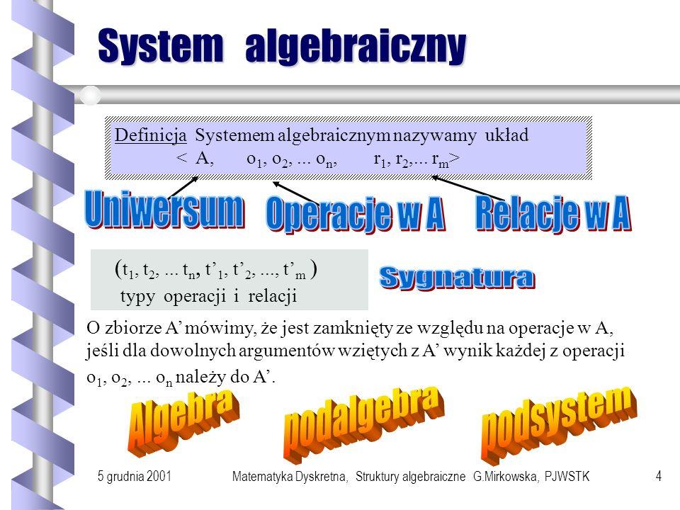 Matematyka Dyskretna, Struktury algebraiczne G.Mirkowska, PJWSTK