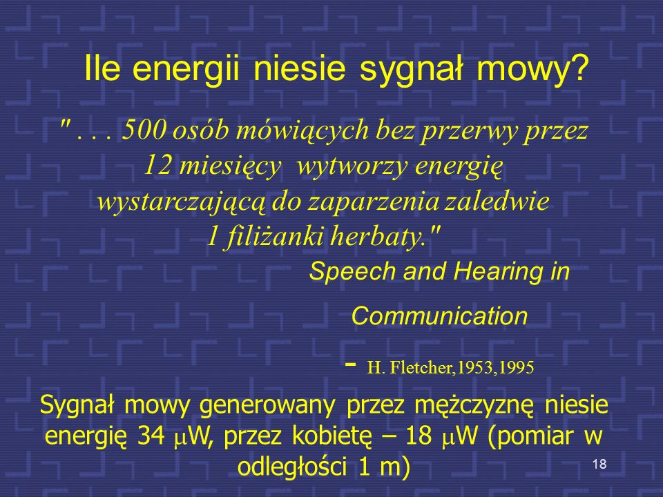 Ile energii niesie sygnał mowy