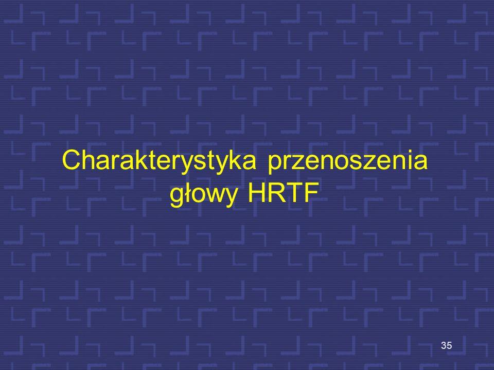 Charakterystyka przenoszenia głowy HRTF