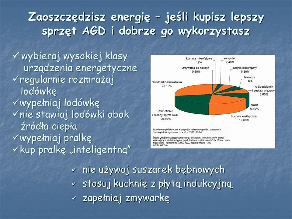 Zaoszczędzisz energię – jeśli kupisz lepszy sprzęt AGD i dobrze go wykorzystasz