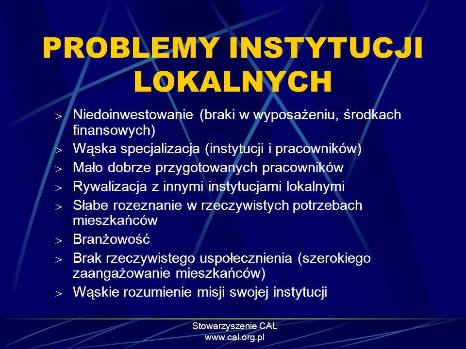 PROBLEMY INSTYTUCJI LOKALNYCH