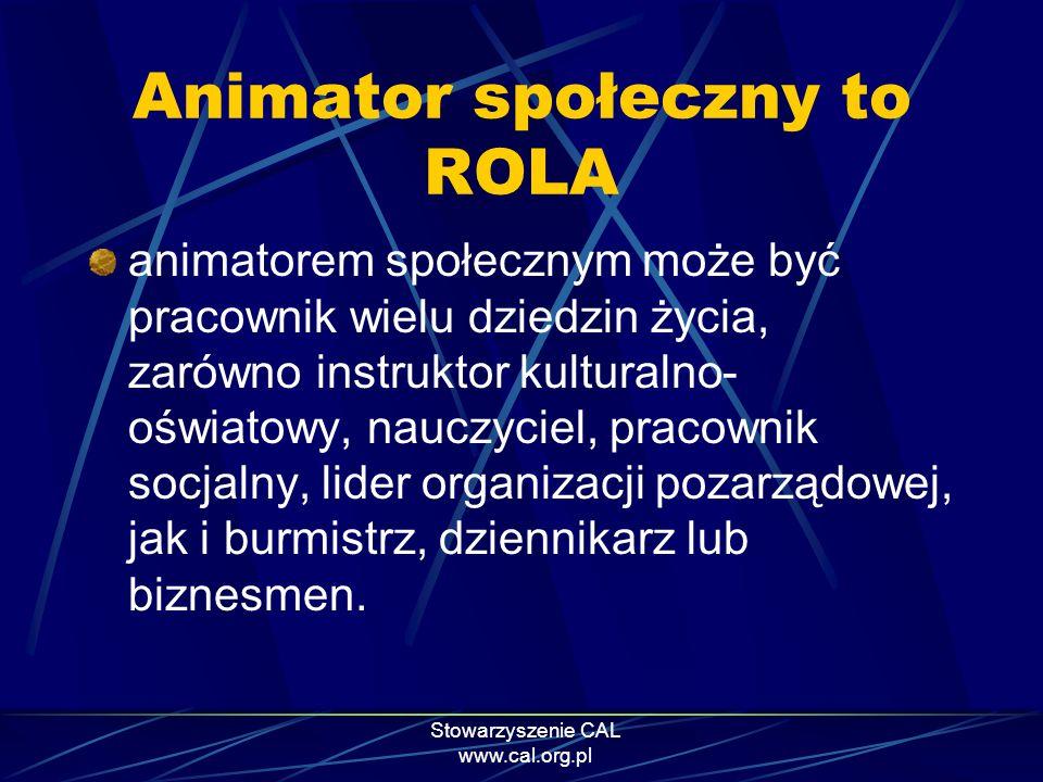 Animator społeczny to ROLA