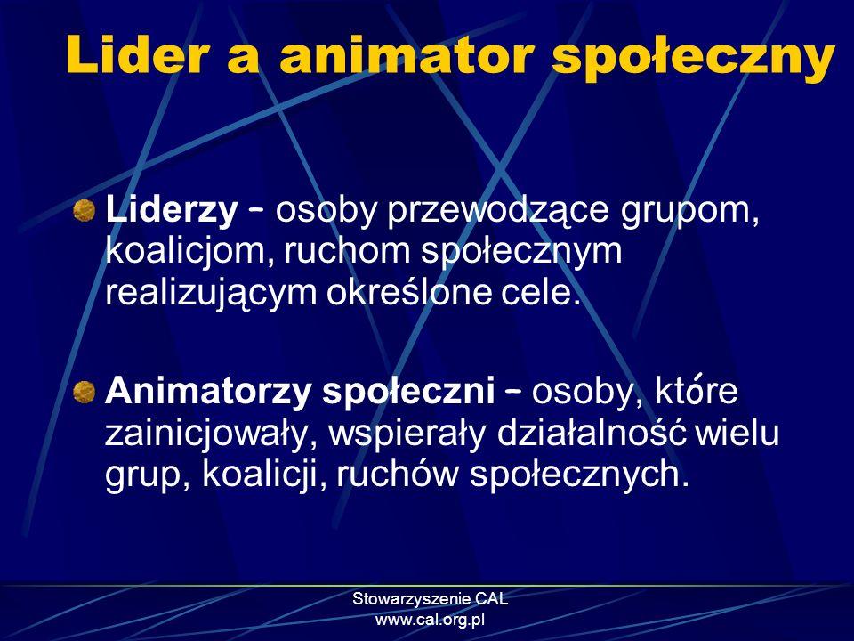Lider a animator społeczny