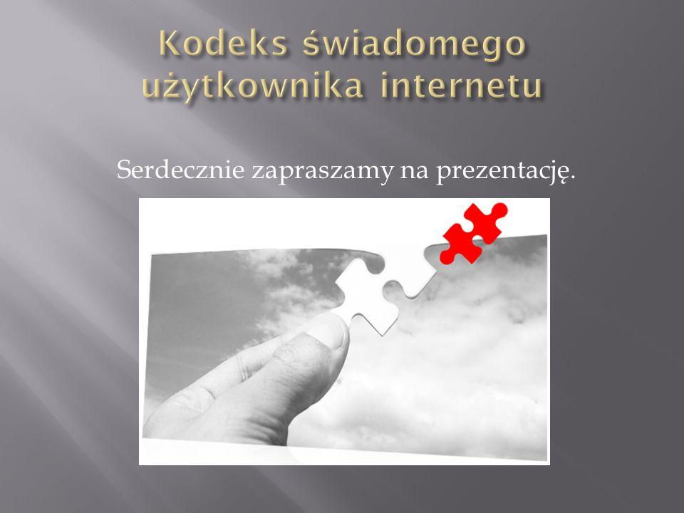 Kodeks świadomego użytkownika internetu