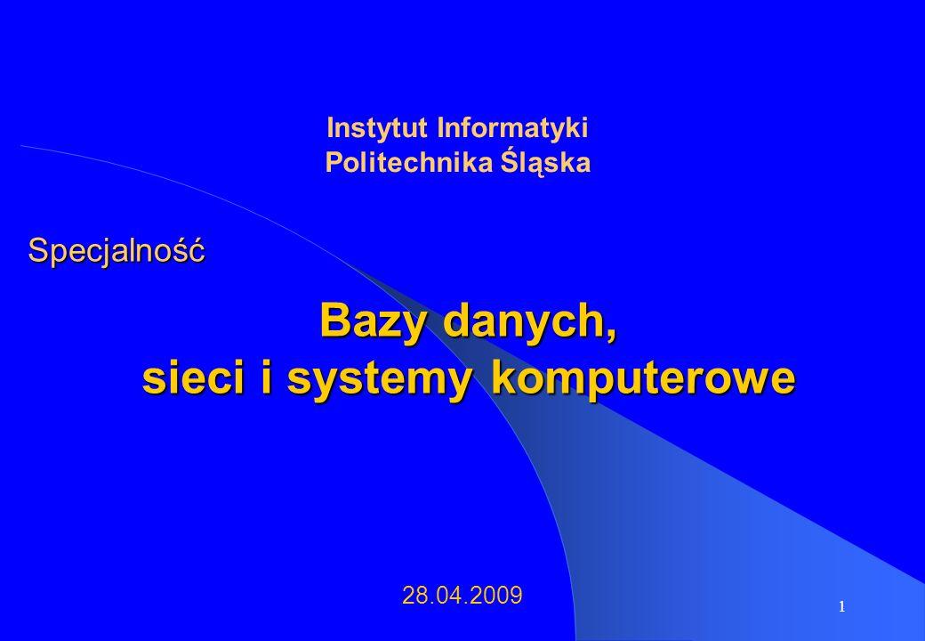 Bazy danych, sieci i systemy komputerowe