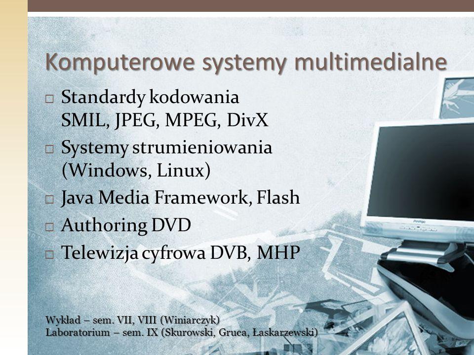 Komputerowe systemy multimedialne