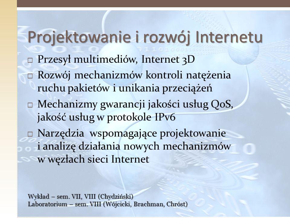 Projektowanie i rozwój Internetu