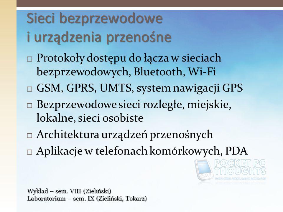 Sieci bezprzewodowe i urządzenia przenośne
